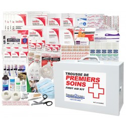 Quebec regulation plus first aid station/ Station de Premiers Secours deluxe